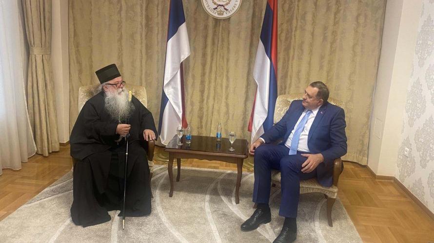 Mitropolit Hrizostom i Dodik: Početi izgradnju nove crkve u Konjević polju