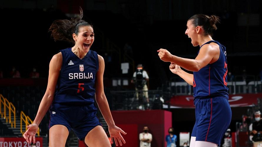 Ženska košarkaška reprezentacija Srbije u polufinalu