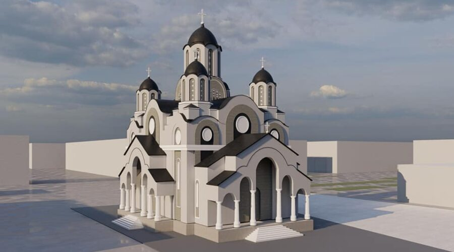 Skica novog hrama Hrista Spasitelja u Istočnom Novom Sarajevu (FOTO)