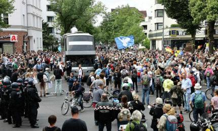 Hapšenja i neredi u Berlinu (video)