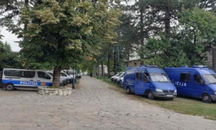 Jake policijske snage oko Cetinjskog manastira