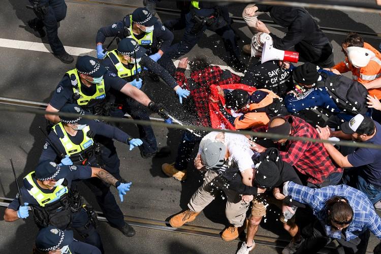 Masovno hapšenje u Australiji na protestima protiv karantina