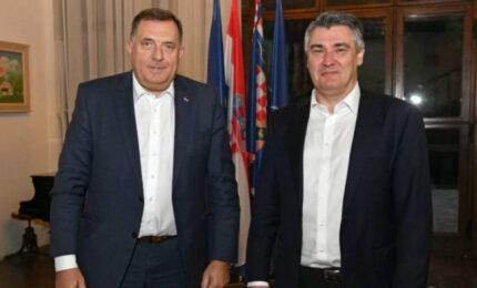Dodik-Milanović: Ostvariti legitimno predstavljanje sva tri naroda u BiH (FOTO)